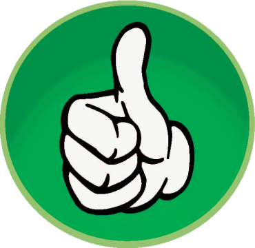 green thumbs up rating