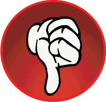 red thumbs down rating